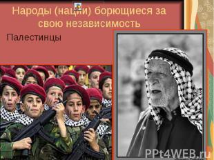 Народы (нации) борющиеся за свою независимость Палестинцы