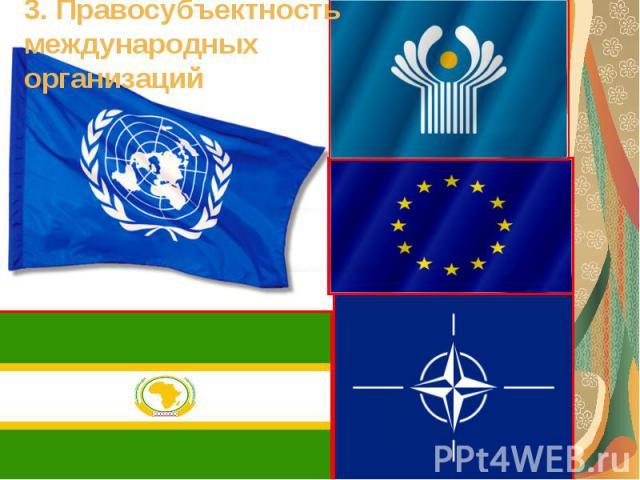 3. Правосубъектность международных организаций
