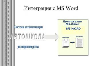 Интеграция с MS Word
