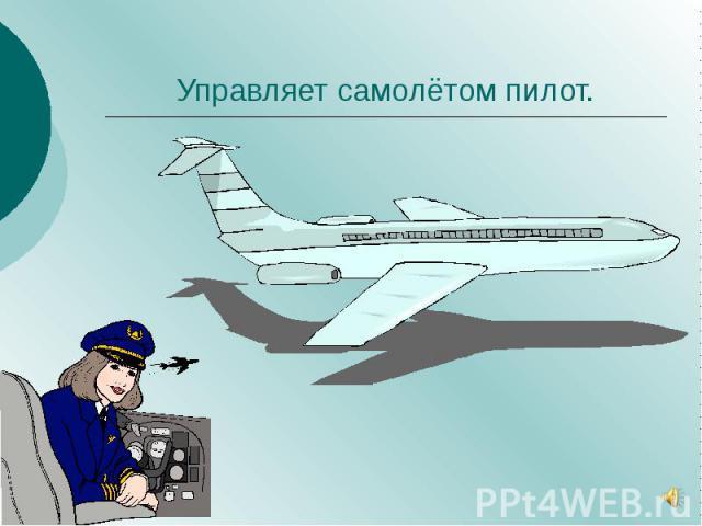 Управляет самолётом пилот.