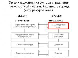 Организационная структура управления транспортной системой крупного города (четы