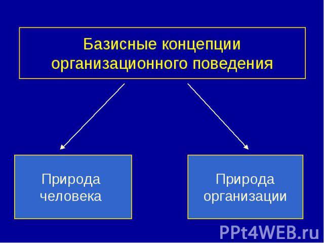 Базисные концепции организационного поведения