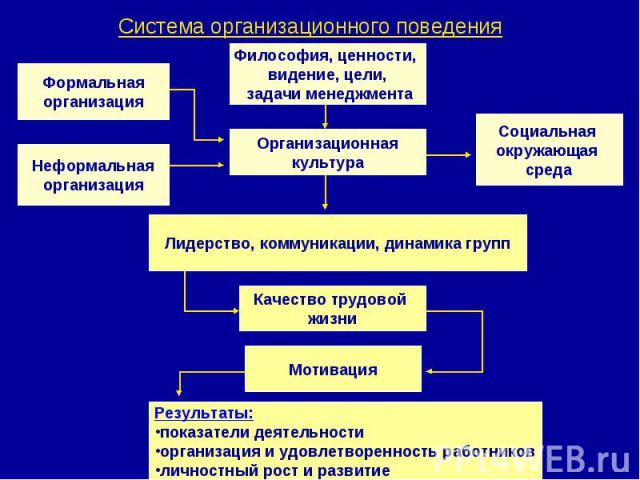 Система организационного поведения
