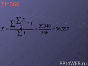 Σf=366 Σf=366