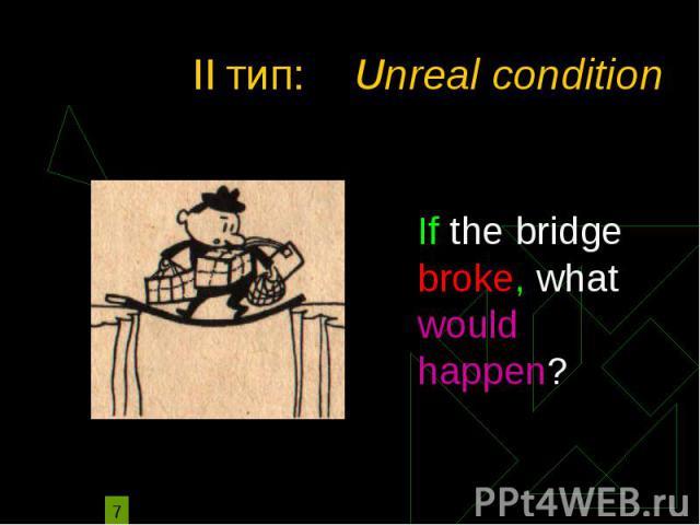 II тип: Unreal condition