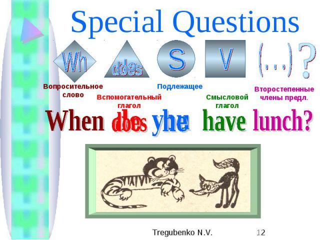 Special Questions