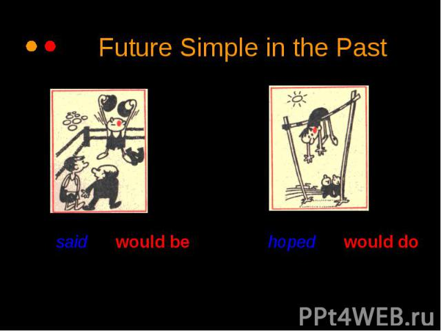 Future Simple in the Past