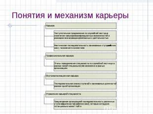 Понятия и механизм карьеры