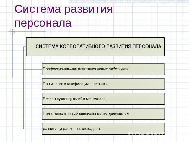 Система развития персонала