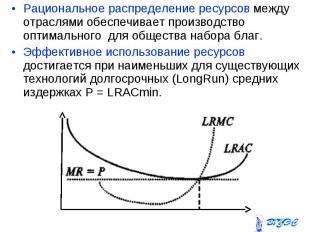 Рациональное распределение ресурсов между отраслями обеспечивает производство оп