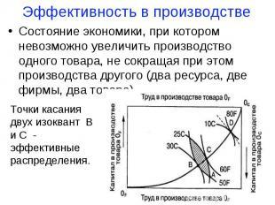 Состояние экономики, при котором невозможно увеличить производство одного товара
