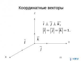 Координатные векторы