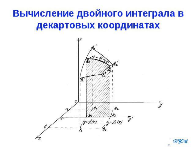 Вычисление двойного интеграла в декартовых координатах