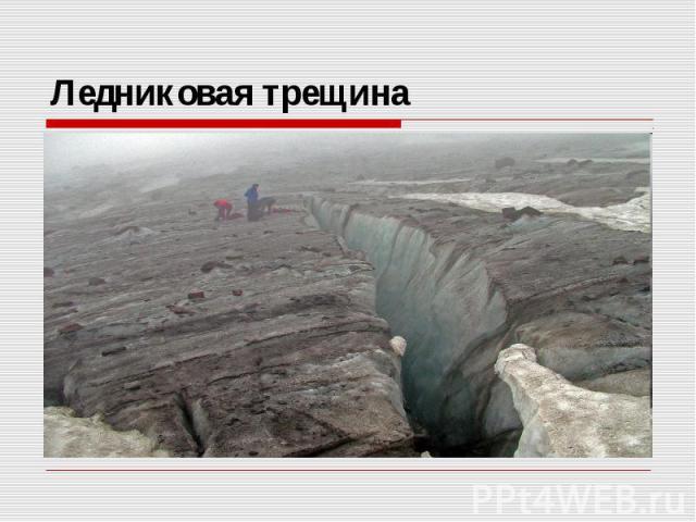Ледниковая трещина