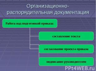Организационно-распорядительная документация