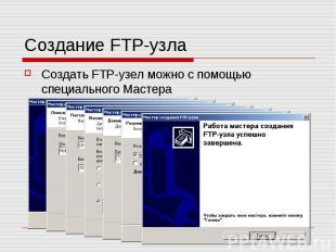 Создание FTP-узла Создать FTP-узел можно с помощью специального Мастера