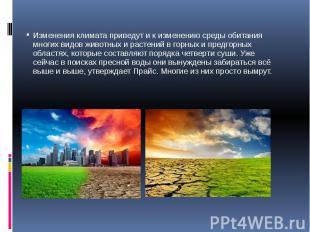 Изменения климата приведут и к изменению среды обитания многих видов животных и