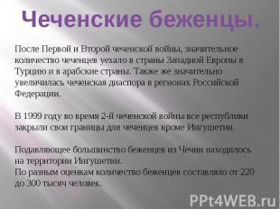 Чеченские беженцы.