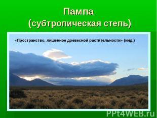 Пампа (субтропическая степь)