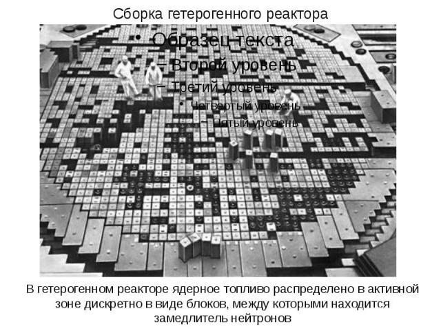 Сборка гетерогенного реактора