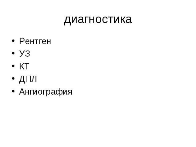 Рентген Рентген УЗ КТ ДПЛ Ангиография