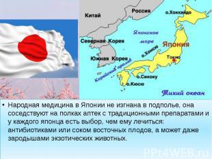 Народная медицина в Японии не изгнана в подполье, она соседствуют на полках апте