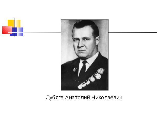 Дубяга Анатолий Николаевич Дубяга Анатолий Николаевич