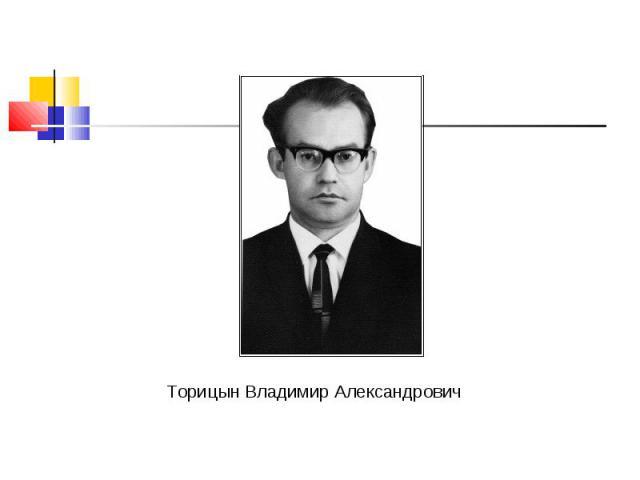 Торицын Владимир Александрович Торицын Владимир Александрович
