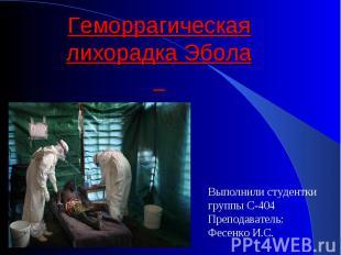 Выполнили студентки Выполнили студентки группы С-404 Преподаватель: Фесенко И.С.