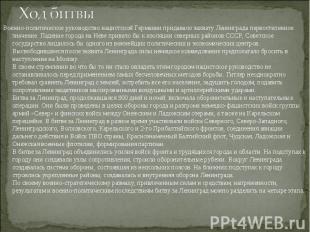 Военно-политическое руководство нацистской Германии придавало захвату Ленинграда