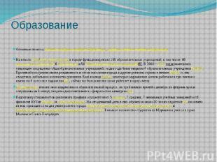 Образование Основные статьи:Высшие учебные заведения Мурманска,Средн