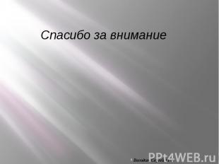 Спасибо за внимание Володин Сергей 11-А