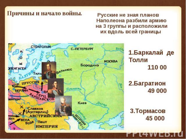 Летом 1812 г. французская армия численностью 600 000 человек сосредоточилась на территории Польши. Летом 1812 г. французская армия численностью 600 000 человек сосредоточилась на территории Польши.