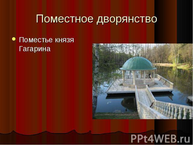 Поместье князя Гагарина Поместье князя Гагарина