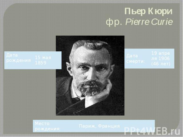 Пьер Кюри фр.Pierre Curie