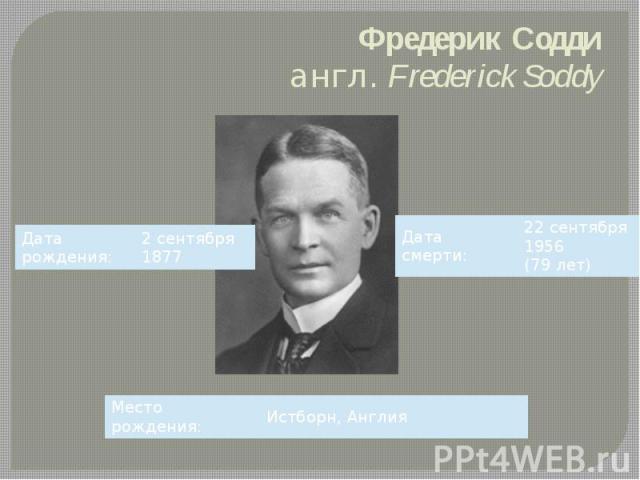 Фредерик Содди англ.Frederick Soddy