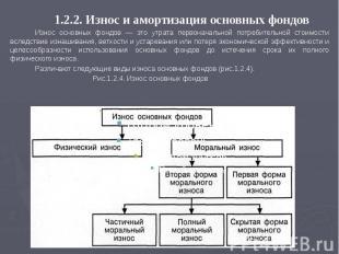 1.2.2. Износ и амортизация основных фондов 1.2.2. Износ и амортизация основных ф