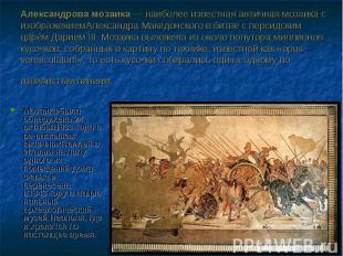 Мозаика была обнаружена 24 октября1831годапри раскопках античныхПомп