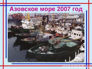 Азовское море 2007 год