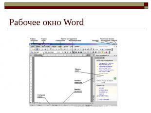 Рабочее окно Word