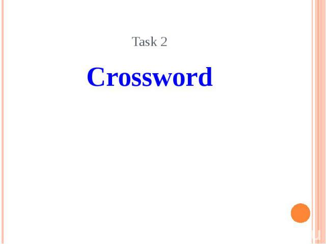Task 2 Crossword