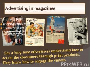 Advertising in magazines
