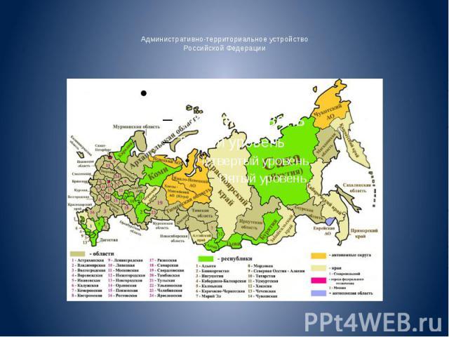 Административно-территориальное устройство Российской Федерации