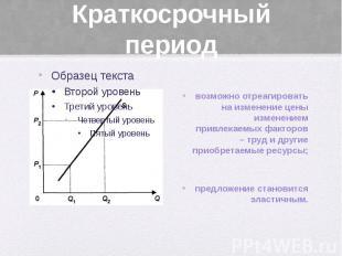 Краткосрочный период возможно отреагировать на изменение цены изменением привлек