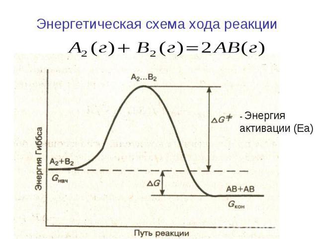 Энергетическая схема хода реакции