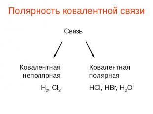 Полярность ковалентной связи