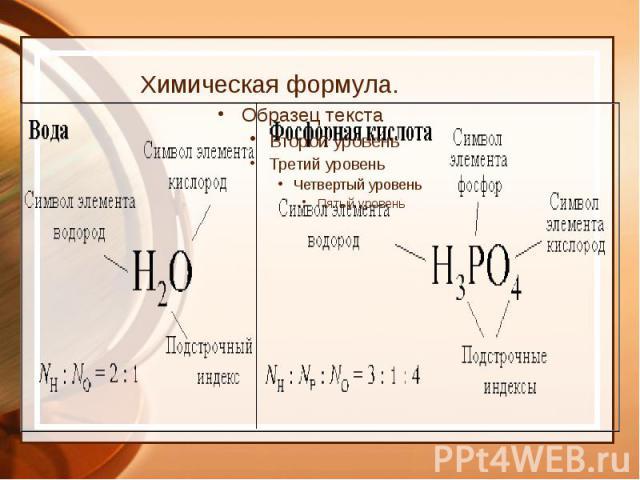 Химическая формула.