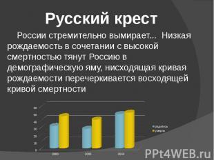 России стремительно вымирает... Низкая рождаемость в сочетании с высокой смертно