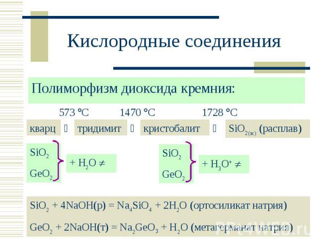 Полиморфизм диоксида кремния: Полиморфизм диоксида кремния:
