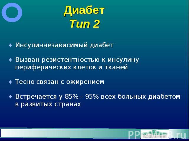 Диабет Тип 2